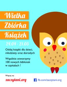 Wielka Zbiórka Książek - plakat